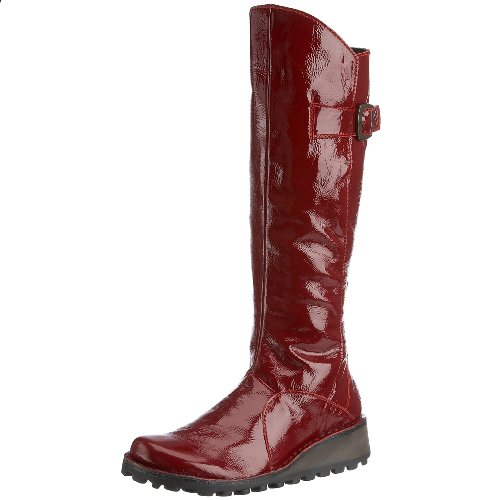 Fly London Women's Mol Boot Red Patent P210318049