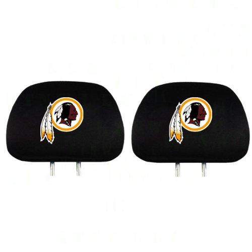 pair of nfl car headrest covers washington redskins. Black Bedroom Furniture Sets. Home Design Ideas