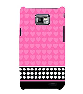 Pink Pattern 3D Hard Polycarbonate Designer Back Case Cover for Samsung Galaxy S2 :: Samsung Galaxy S2 i9100