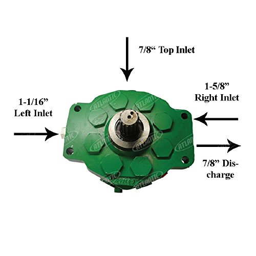 1401-1205 John Deere Parts Hydraulic Pump 3010; 3020; 4000; 4010; 4020; 4040; 4050; 4055; 4230; 4240; 4250; 4255; 4320 COMPACT TRACTOR; 4350; 4430; 4440; 4450; 4455; 4520; 4620; 4630; 4640; 4840; 5010