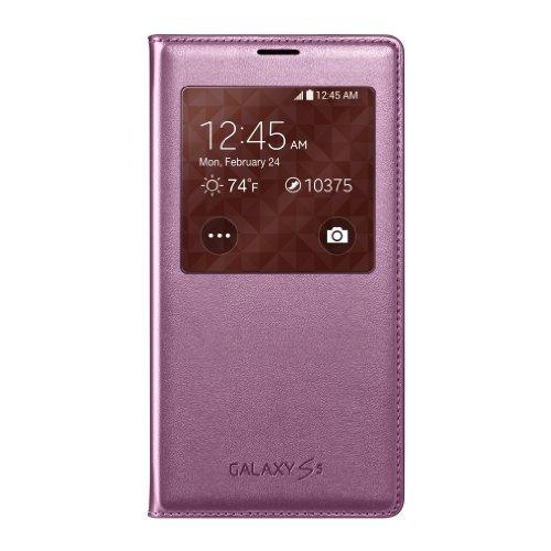 Samsung Galaxy S5 Case S View Flip Cover Folio, Pink