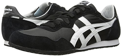 Onitsuka Tiger Serrano Classic Running Shoe, Black/White, 10.5 M US
