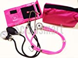 EMI ALL PINK SET Sprague Rappaport Stethoscope and Aneroid Sphygmomanometer Blood Pressure Set Kit - #330