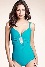Bodyshaper Tummy Control Jewel Trim Swimsuits