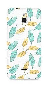 Amez designer printed 3d premium high quality back case cover for Infocus M2 (leaves breeze)