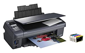 Epson Stylus DX7400 All-in-one printer with individual ink cartridges & advanced features for home, office & photo printing