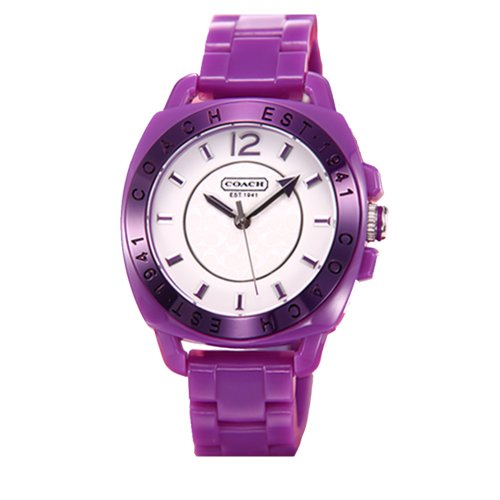 Coach Purple Boyfriend Plastic Bracelet Watch