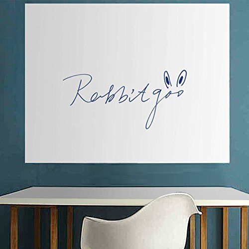 Rabbitgoo® Wall Sticker Wall Paper Thick Whiteboard Sticker Chalkboard Contact Paper 17.5 by 77.9 Inches with 1 Free Marker Pen(Water-based Marker Pen, Smooth & Flat Wall Required)