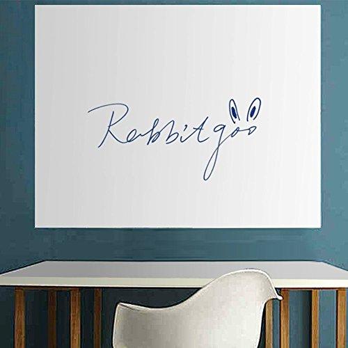 Rabbitgoo@FINO Pizarra blanca autoadhesiva por pizzara o pared,con 1 rotulador gratis,espero:0.18mm,para escuela,oficina o casa