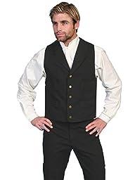 Scully RW041X-BLK-3X-B-T Mens Rangewear Frontier Vest, Black, 3X