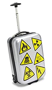Travel Kool Danger Luggage, Sliver