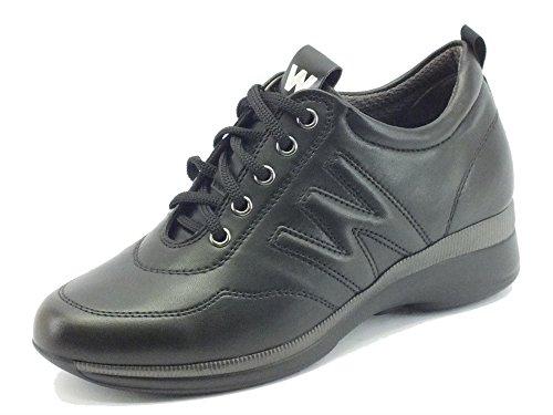 Sneakers Melluso Walk per donna in pelle nera (Taglia 38)