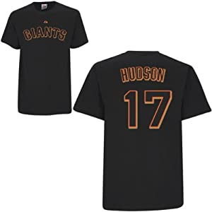 Tim Hudson San Francisco Giants Black Youth Player T-Shirt by Majestic by Majestic