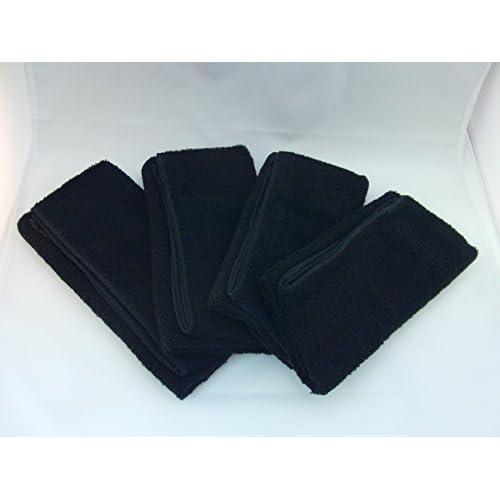 高田商事 純黒 ブラックカラー 超ロングタオル 34×105cm 4枚組