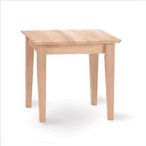 International Concepts Ot-9Te Tall Shaker End Table, Unfinished
