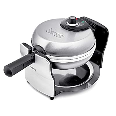 Bialetti 1KW Ceramic Rotating Waffle Maker - Scartch resistant, PFOA & PTFE free by Bialetti