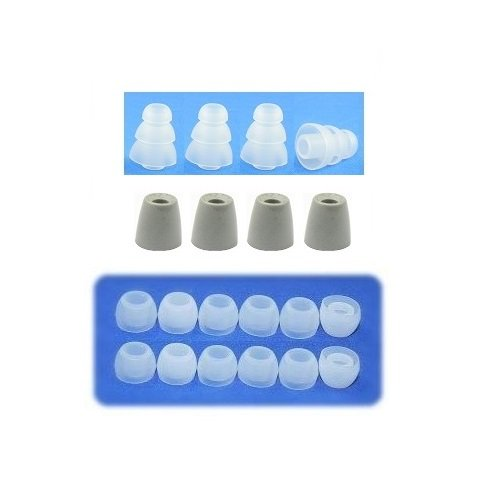Small - Earphones Plus Brand Replacement Earphone Cushions Custom Fit Assortment: Memory Foam Earbuds, Triple Flange Ear Tips, And Standard Replacement Ear Cushions (Please See Product Details For Connector Sizes)
