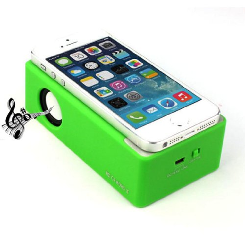 Towallmark New Magic Interaction Wireless Cordless Speaker For Iphone 4Gs 5G/5S/5C I9300 I9500 Mp3(Green)