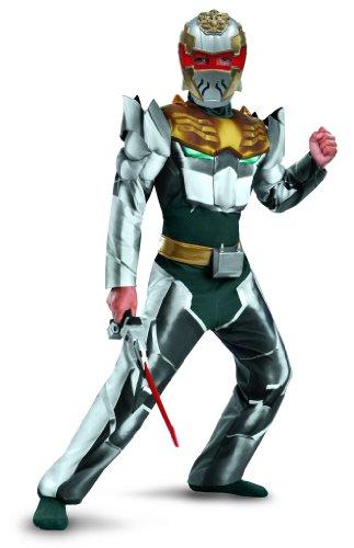 Disguise Power Rangers Megaforce Robo Knight Boy's Muscle Costume, 4-6 (Power Ranger Megaforce Costumes)