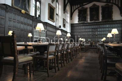"Wallmonkeys Peel and Stick Wall Decals - Oxford University, Magdalen College Dining Hall - 24""W x 16""H Removable Graphic"