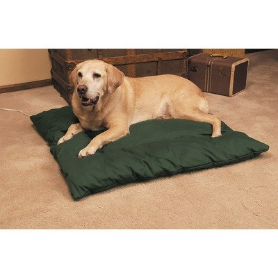 K&H Manufacturing 3022/3003 Quilted Heated Dog Bed Size: Medium, Color: Tan/Mocha