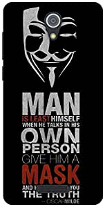 The Racoon Lean Anonymous Quotes hard plastic printed back case / cover for Gionee Marathon M4
