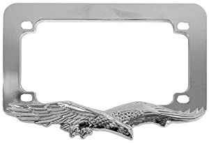 Custom Accessories 92732 Chrome Eagle Motorcycle License Plate Frame from Custom Accessories