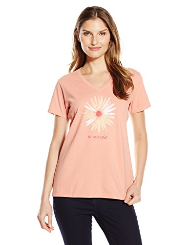 life-is-good-womens-be-you-tiful-daisy-vee-crusher-tee-small-tawny-peach