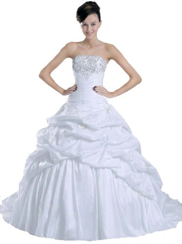Faironly New White Bride Wedding Dress , Size|S
