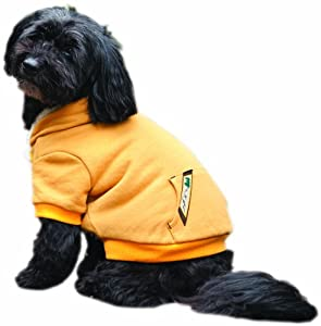 Fashion Pet Outdoor Dog Sherpa Warm Up Coat, Small, Gold