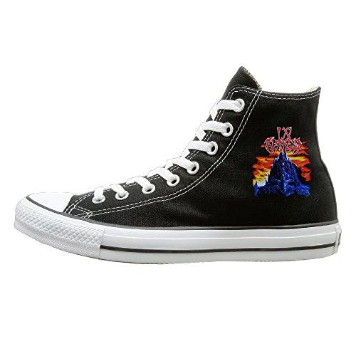 Suancai Men & Women In Flames The Jester Race High Top Sneakers Canvas Shoes Design Sport Shoes Vintage 35 Black (Remix Vintage Shoes compare prices)
