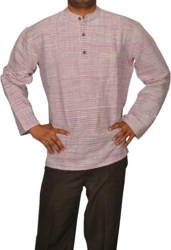 Designed Mens Casual Cotton Khadi Short Kurta Fabric For Winter & Summers Size-6XL