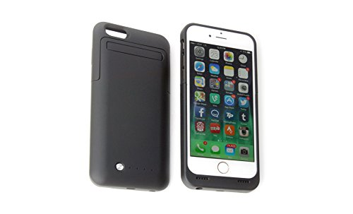 New! Apple Iphone 6 Extended Battery Case, Ultra-Slim Design, External Protective Battery Case With Stand, 4.7Inch For Iphone 6. Full Ios 8 Compatible, No Signal Reduction (Matte Black)