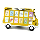 Yellow School Bus Frame Holds 12 Photos