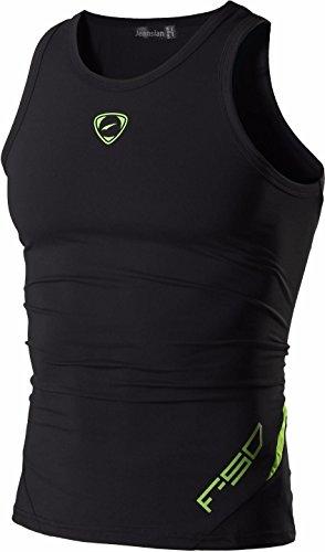 jeansian Uomo Sportivo Palestra Muscolo Formazione Veste Canotta Fashion Workout Vest Tank Top LSL3306 Black M