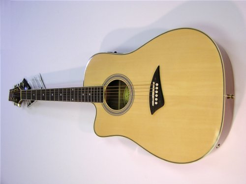 Kona Left Handed Cutaway Acoustic/Electric Guitar – Natural Gloss