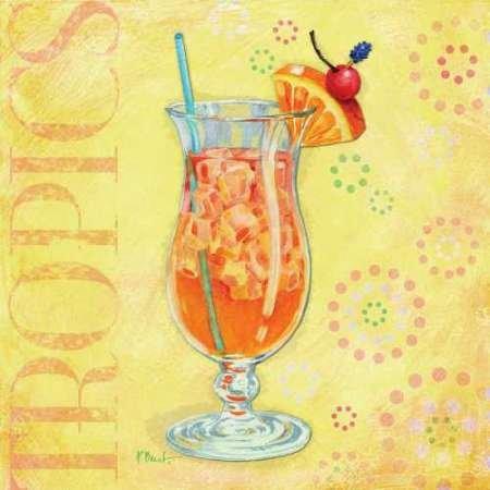 Calypso Cocktails IV par Brent, Paul -Imprimé beaux-arts sur toile - Petit (49 x 49 cms)