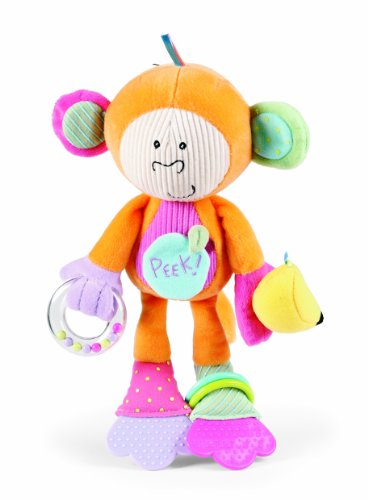 Manhattan Toy Peek-Squeak Activity Toy, Monkey