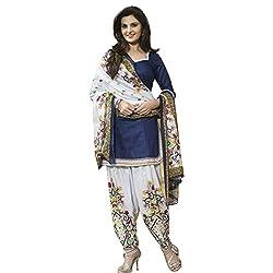 Ladies4Zone Design Women's Cotton Dress Material (LZ1398_Freesize_white)