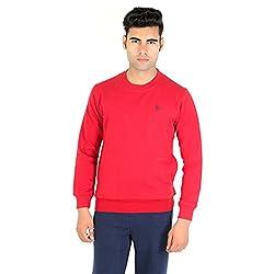Bongio Men's Fleece Full Sleeve Sweatshirt _RMW5A13009A (Small, Maroon)