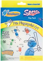 Colorbok Printoons Fun Fingerpaint Art Kit, Sports