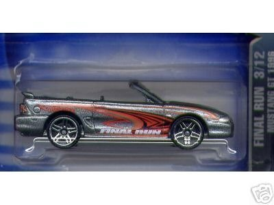 Mattel Hot Wheels 2003 1:64 Scale Final Run Silver 1996 Mustang GT Die Cast Car #197