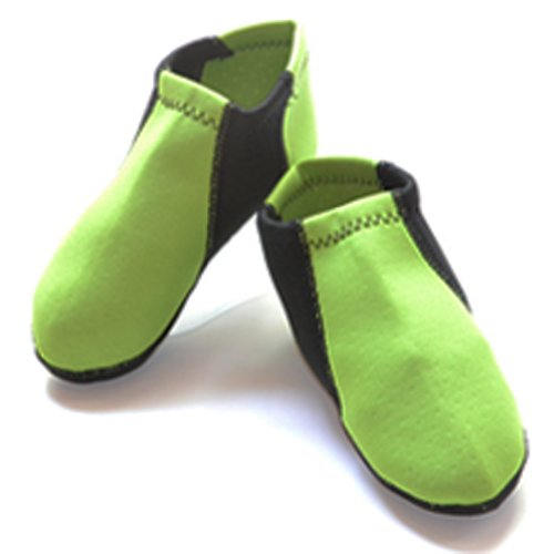 Nufoot Toddler's Shoes Green with Black, One size