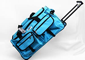 Rugged Gear 27 Large Wheeled Holdall - Turquoise Blue from Ultimate Products