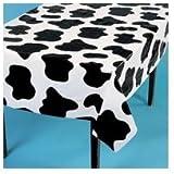 """Fun Express Lightweight Cow Print Tablecloths (Set of 6), 54 x 72"""""""