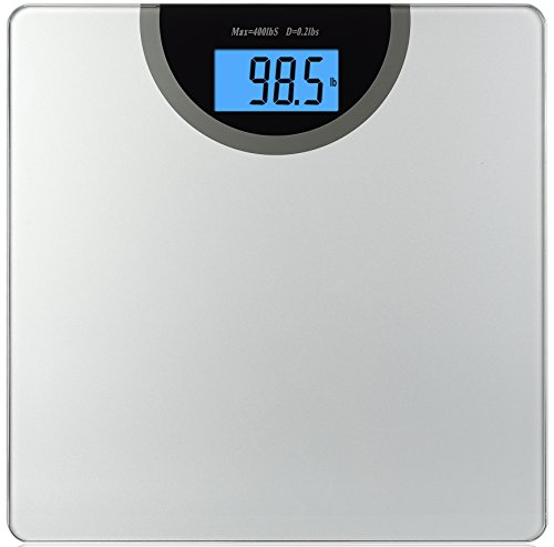BalanceFrom High Accuracy Digital Bathroom Scale with Backlit Display and