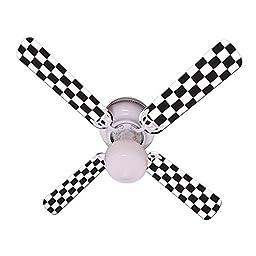 Ceiling Fan Designers Ceiling Fan, Checkered Flag, 42\