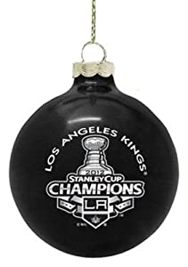 Los Angeles Kings NHL Hockey 2012 Stanley Cup Champions Black Ball Christmas Ornament