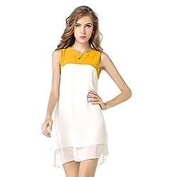 Mastani Kreation's Solid White Fully Stitched Western Dress