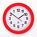 Backwards Wall Clock - Runs Counterclockwise & Reverse (Black or Red)